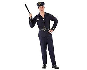 Atosa-61626 Atosa-61626-Disfraz Policia- ADOLESCENTE- Hombre- negro, Color (61626)