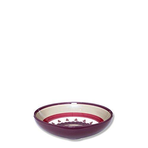 Bruno Evrard Assiette Creuse en céramique décor Rosace 20cm - Lot de 6 - Lelia