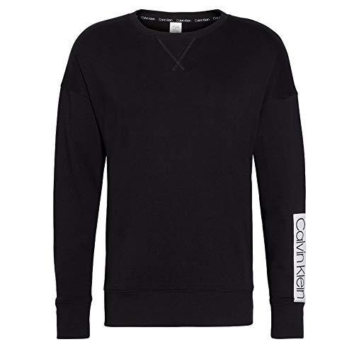 Calvin Klein Herren L/S Sweatshirt Funktionsunterwäsche, Schwarz (Black 001), Small (Herstellergröße:S) (2erPack) (Klein Calvin Longsleeve)