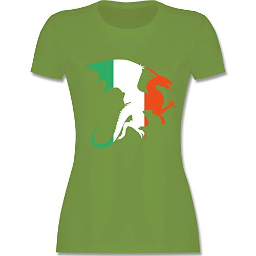 Elf Kostüm Irland - St. Patricks Day - Drache Irland - XL - Hellgrün - L191 - Damen Tshirt und Frauen T-Shirt