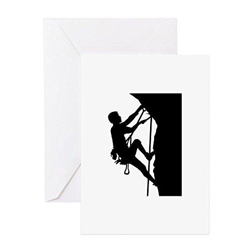 CafePress - Klettern - Grußkarte, Notizkarte, Geburtstagskarte, innen blanko, glänzend