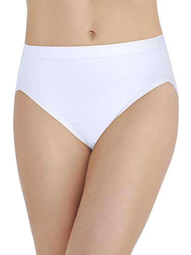 Vanity Fair Damen Comfort Collection Hi Cut Panty 13164 Unterhose, Star White, X-Large (34) -