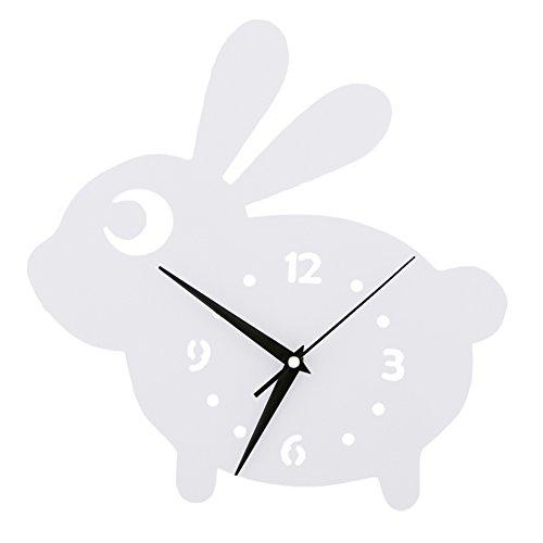 Lapin Horloge murale Chambre d'enfant Chambre Horloge silencieuse Belle Famille Décoration Boutique