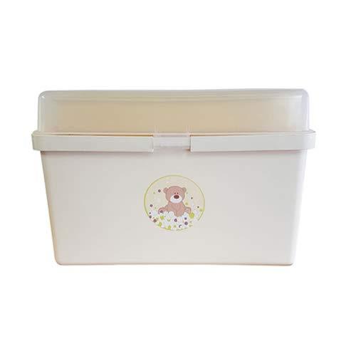 The neat nursery Teddy Bear Baby Box Organiser Cream and Yellow