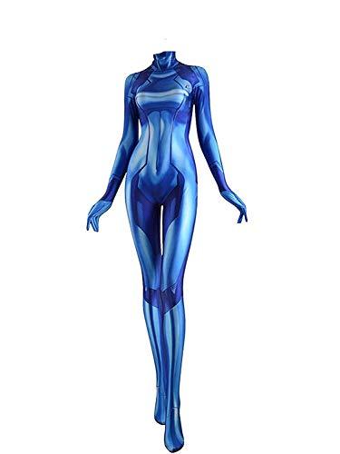 Samus Kostüm - Zero Suit Samus Cosplay Costume (Extra klein)