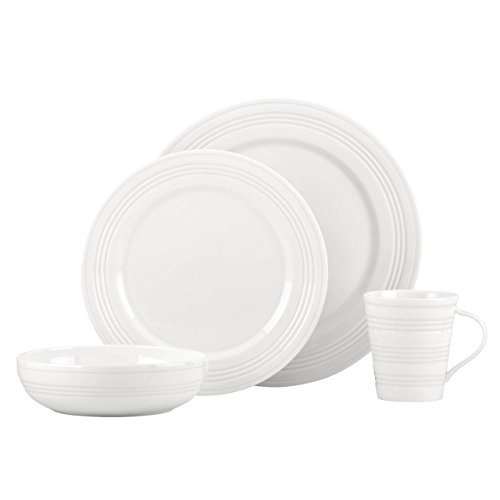 Lenox Tin Can Alley 4 Degree Dinner Service 12 Pieces 4-piece cutlery set for 1 place setting white
