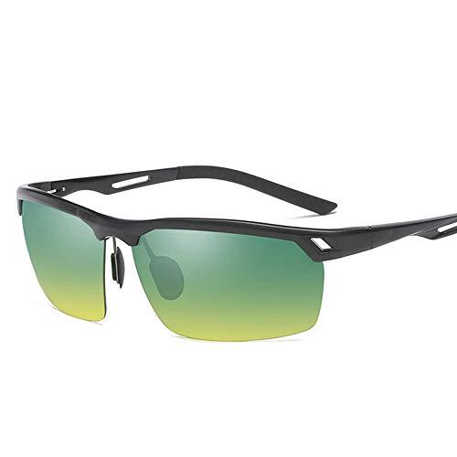 GXM-FR Polarisierte Sonnenbrille, Fahren bei Tag und Nacht, Angeln, Outdoor-Sportbrillen, Nachtsichtbrille für Herren, Anti-Blau UV400,Black