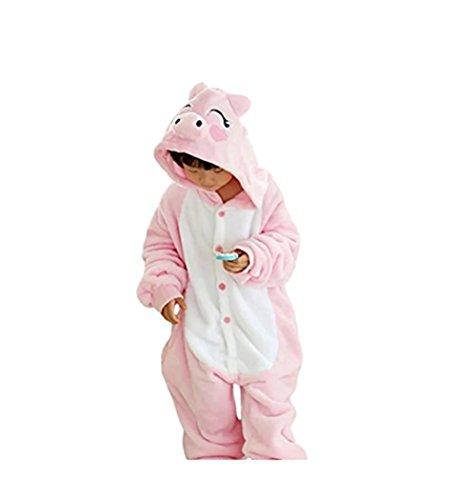 Imagen de jt amigo disfraz pijamas para unisex niños,cerdito, 9 11 años talla de la fabricante 125