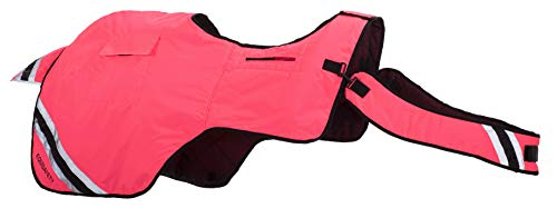 Equisafety Winter Rug - Ropa Reflectante para Caballo, Color Rosa, Talla FR: Show Pony