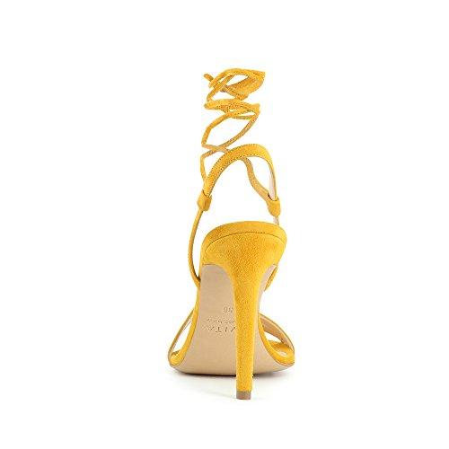 EVA sandales femme daim Ocre