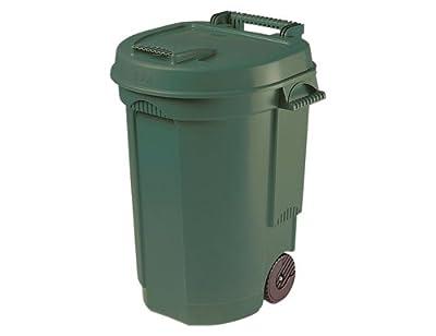 Siena Garden 329424 Fahrbarer Abfallbehälter grün, 110L, 55x58x81cm