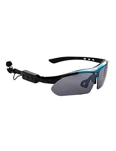 MOKAYA Wireless Bluetooth Sonnenbrille Stereo Kopfhörer Digital Brillen mit Musik MP3-Player Musik Kopfhörer (Blau)