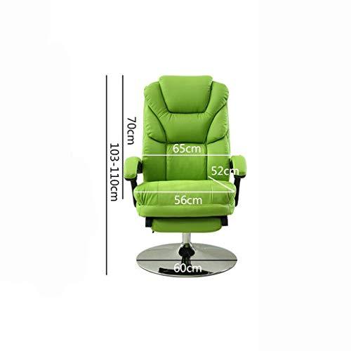 Tao Home Computer Stuhl, Verstellbare Drehstuhl Bürostuhl Rückenlehne Lift Armlehne flach Legen...
