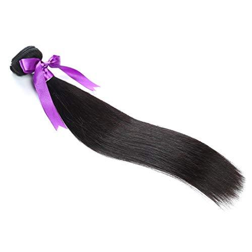 Farbe Menschlichen Haar Perücke (Natürliche Haarteile Malaysisches gerades Haar bündelt 8-28 Zoll 100% Menschenhaar-Webart Remy Haar-natürliche Farbe 1pcs Haar-Webart Perücken (Stretched Length : 28inches))
