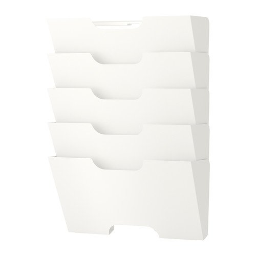 IKEA KVISSLE - revistero de pared, blanco