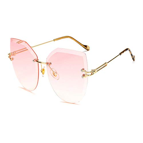 Yangjing-hl Gafas de Sol de Gran tamaño para Mujeres de los años 90 Gafas de Sol Bling Gafas de Sol LadyEye 400 Gafas de Sol de gradiente Mujer Gafas de Sol