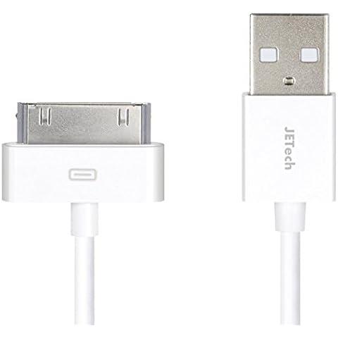 iPhone 4s cable, JETech Cable de Datos de USB Cable de Carga Cargador Cable para iPhone 4/4s, iPhone 3G/3GS, iPad 1/2/3, iPod