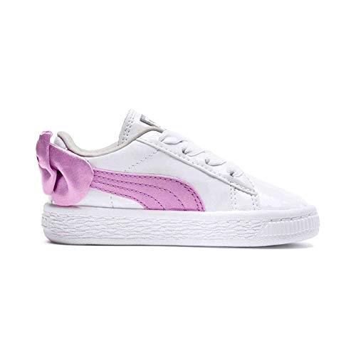 Puma Sneakers Basket Bow Patent AC PS Bianco Rosa 363353-03 (28 - Bianco)