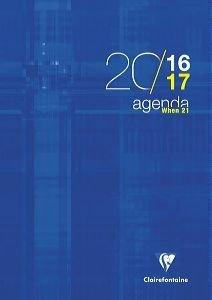 Agenda scolaire 'When 21' - 21x29,7 - Bleu 2017/2018