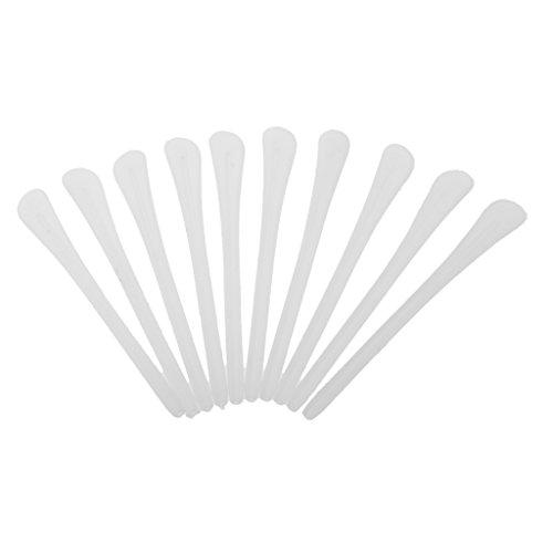 Gazechimp 10 Stück Silikon Rutschfeste Überzüge für Bügelenden / Brillenbügel Brille Ersatz Bügel Socke - Weiß