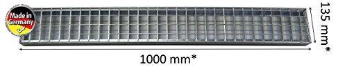 Kanal Gitter (Rinnenabdeckung Rinnenrost Rinnengitter Rost 135 x 1000 mm bis 5000kg belastbar Gitterrost Einpress Rost)