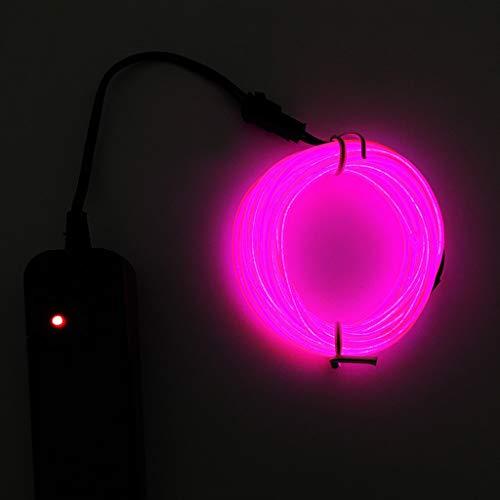 Licht Led Kostüm Seil - Amcool Neu Halloween Cosplay Dekoration,Flexibles LED-Licht EL Draht Schnur Streifen Seil Glühen Kostüm Dekor Neonlampe USB-Prüfer