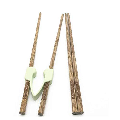 GLJY Essstäbchenhelfer für Erwachsene/Ausbildung Alte Menschen Selbsthilfe Massivholzstäbchen Anti-Shake Anti-Rutsch-Design - Linke oder rechte Hand (2 Paar)