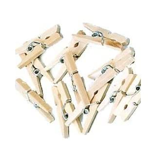 100 Pack of Craft Hobby Clothes Mini Wood Wooden Pegs by Kurtzy TM