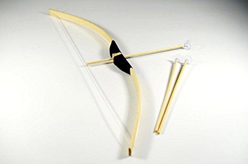 BKL1® Kinder Bambus Bogen 70cm + 3 Saugnapf Pfeile Indianer Holzbogen Set Ritter