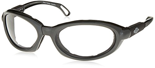 d814a1add8f3 Crossfire 116415 Raptor Foam Lined Reader Safety Glasses 1.5 Diopter Clear  Lens - Shiny Pearl Gray