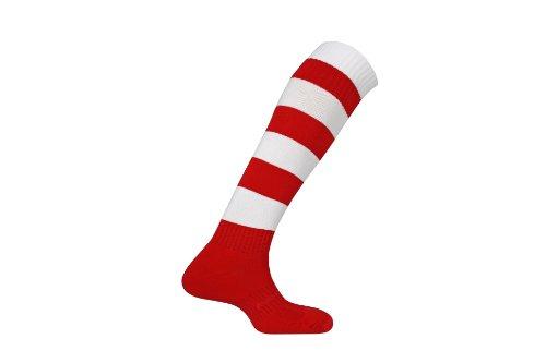 mitre-mercury-hoop-football-sock-scarlet-white-size-7-12