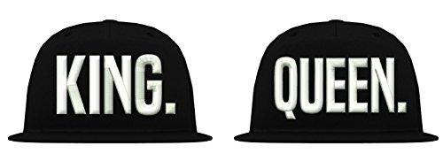 TRVPPY 5 Panel Snapback Cap Modell King, Weiß-Schwarz - Tisa Hat