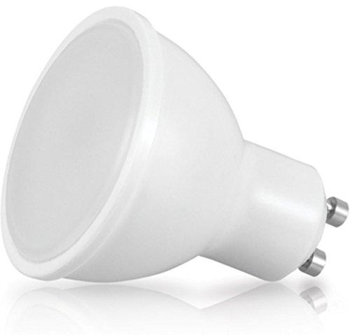 Foco LED de GU10, 8W–710lm, 120º–Con cubierta protectora–blanco cálido (3000K)
