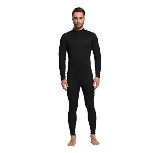 LOPILY Herren Surfbekleidung Neoprenanzug Schwimmen Surfen Tauchen Sport Badeanzug Taucheranzug Wassersport Anzug Schnelltrocknend Schnorcheln Badebekleidung(Schwarz,S)