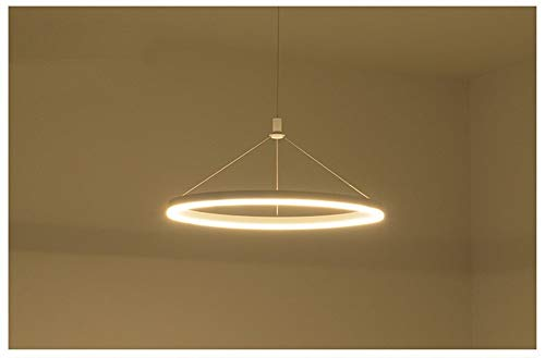 WandaElite Kronleuchter Aura Moderne Scheinwerfer Design Einfache Einzel-LED-Lampe, Hochglanz-Aluminium-Überzug Nm Lichtleiter Decke, kreative Persönlichkeit Kunstwissenschaft Es Qualität dekoratives
