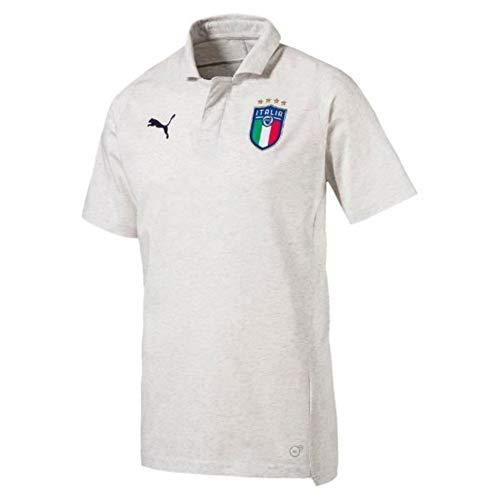 PUMA Italia Casual Performance Polo Puma White Heather L