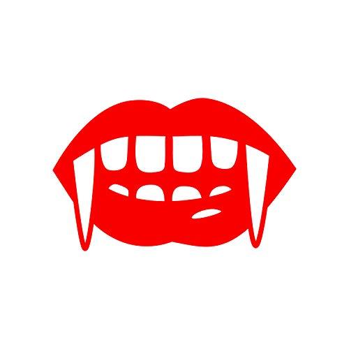 Vinyl-Wandaufkleber - Vampirzähne - 15,2 x 25,4 cm - lustiger Gruseliger Halloween-Gothic-Dekorationsaufkleber - Kinder Teenager Erwachsene Innen Außen Wand Fenster Wohnzimmer Büro Decor 6