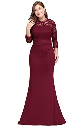 Misshow Abschlusskleid Große Größen Elegant Für Hochzeit Langarm Abendkleid