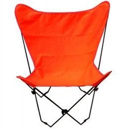 Butterfly Chair and Cover Combination w/Black Frame (Schwarz, Stoff Dining Chair)