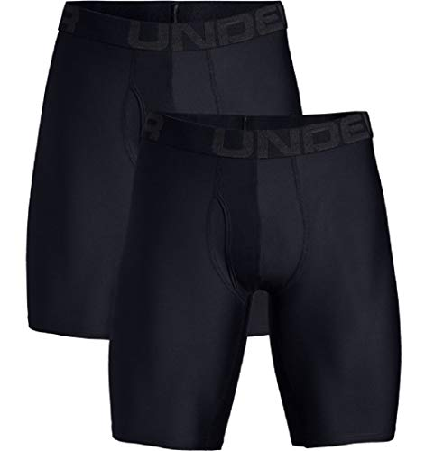 Tech 9in 2 Pack Unterhose, Schwarz, XL ()