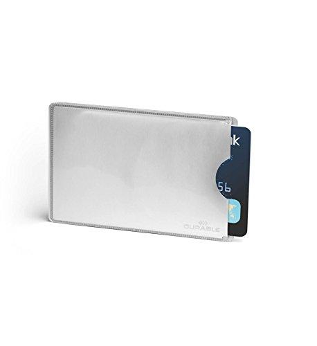 Durable 890023 Kreditkartenhülle (mit Rfid Schutz, Beutel à10 Kartenhüllen) silber -