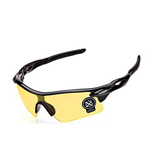 Beydodo Unisex Schutzbrille Antibeschlag Schwarz Gelb Brille Winddicht Unisex Arbeitsbrille für Brillenträger Schutzbrillen zum Schutz der Augen