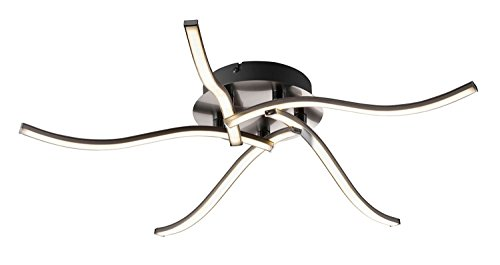 LED-Deckenleuchte Deckenlampe Wohnzimmerlampe Carina II | Metall | Grau | 5-flammig