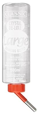 Europet Bernina 511-420690 Nagertrinkflasche Crystal Deluxe Mini Bottle, circa 75 ml, transparent