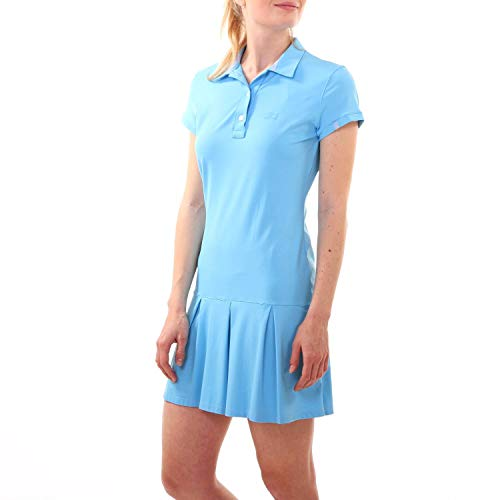 Sportkind Mädchen & Damen Tennis, Hockey, Golf Polokleid, hellblau, Gr. S
