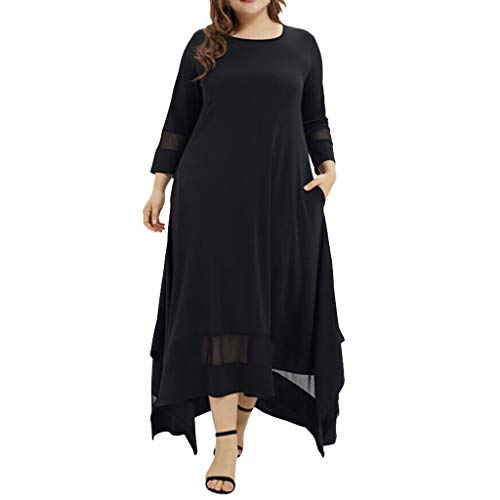 Langes muslimisches Kleid für Frauen - Lässige Maxikleider mit langen Ärmeln Abaya Abra Large Size Dress -