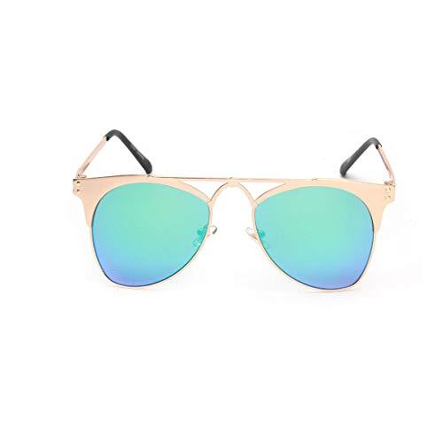 UV-Sonnenbrille mit ovaler Form für Unisex-Erwachsene im Freien Fahren Sommer Strand Reisen Brille (Farbe : Blau)