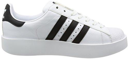 adidas Superstar Bold W Black White Gold Blanc