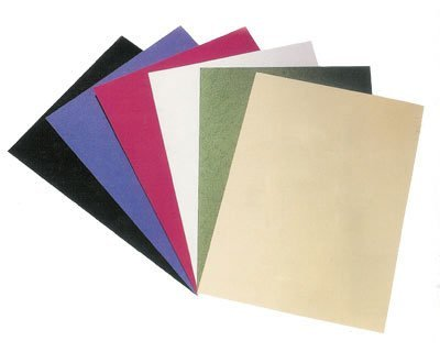 100 Rückwände/Deckblätter A4, CLASSIC - Leinenstruktur, weiß