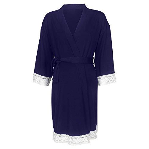 Camicia da Notte da Donna Accappatoio Abito da Allattamento Abito da Completi alla Moda Allattamento 3 Abito a 4 Maniche Abito in Pizzo Casual Abito Tinta Unita Vestito Premaman Kimono da Notte